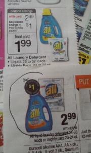 Detergente All en oferta a $2.99